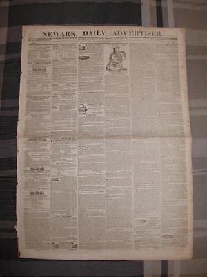 (Newark Daily Advertiser Original Antique Newspaper January 17 1840 New Jersey O)