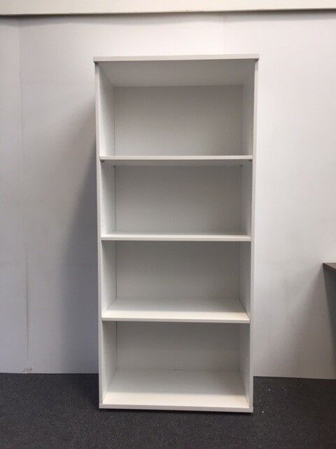 white office bookcase. White Office Bookcase Bookshelf 1800mm High With 3 Adjustable Shelves