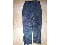 LADIES LEATHER MOTORCYCLE TROUSERS SIZE 10