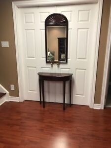 Hallway accent table and mirror - Bombay Company