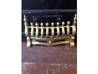 New Fireplace Fire Place *BRASS FRONT* Guard Grate Grill Fender W38 x D6 x H24cm WITHOUT PACKAGING