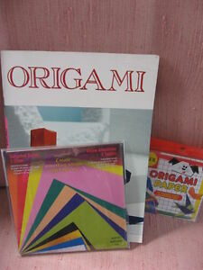 Origami book with 2 sets of paper