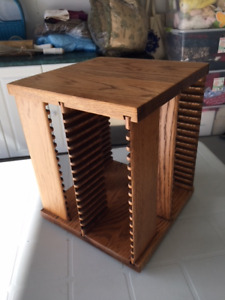 Oak CD holder