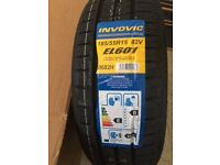 2 X NEW TYRES - INVOVIC EL601 82V 185/55R15 B WET GRIP (2 TYRES) SUITABLE FOR HONDA JAZZ &others