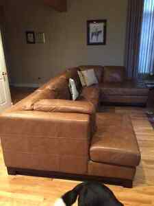 Leather Sectional Couch St. John's Newfoundland image 1