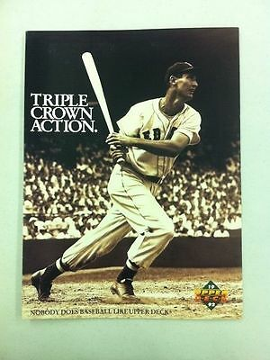 1992 Upper Deck Baseball Product Promotional Pamphlet (Ted Williams/Bo Jackson) ()