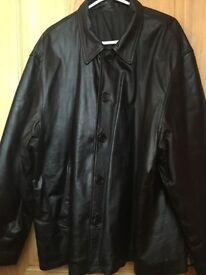 Men's XXXL leather jacket coat
