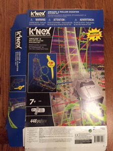 K'Nex Amazin' 8 Roller Coaster with motor