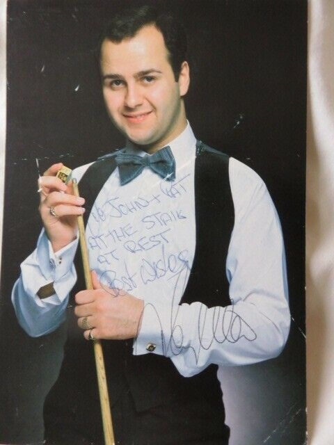 TONY MEO professional SNOOKER Signed Photoautograph