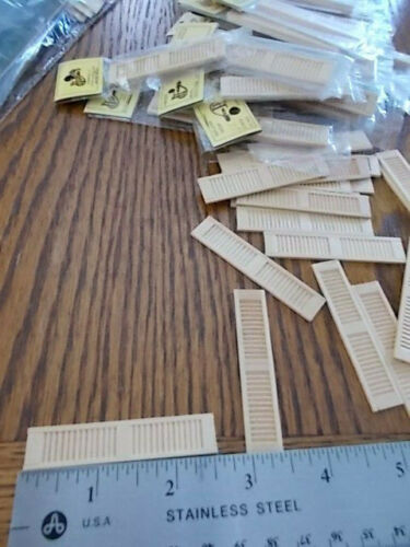 Dollhouse Half 1:24 Scale Shutters 40 sets 80 pieces
