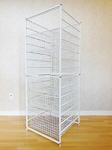 CLOSETMAID Drawer Frame with Wire Baskets - White