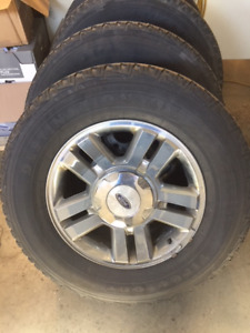 f-150 rims and tires - $80/set