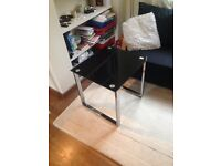 Black glass and chrome coffee table- immaculate condition £30 ono