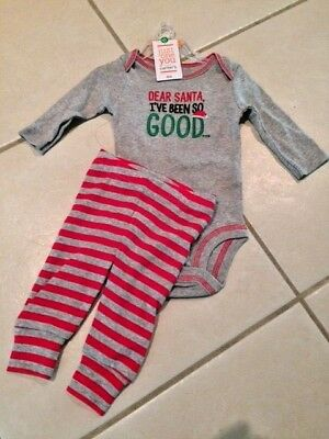 NEW CARTERS Santa Ive Been Good BABY OUTFIT NB NEWBORN BODYSUIT Infant - Good Christmas Outfits