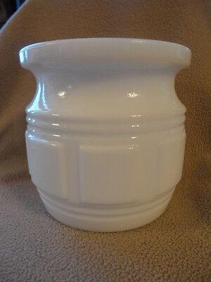 Randall Milk Glass Jar Planter Jardiniere Container Holder 4-1/2 in tall Vintage