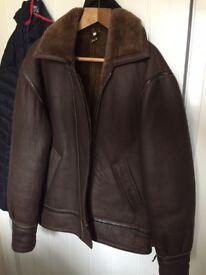 Retro sheepskin flying jacket