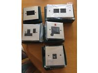 CHROME SILVER LIGHT SWITCHES BRAND NEW IN BOXES VARIOUS TYPES