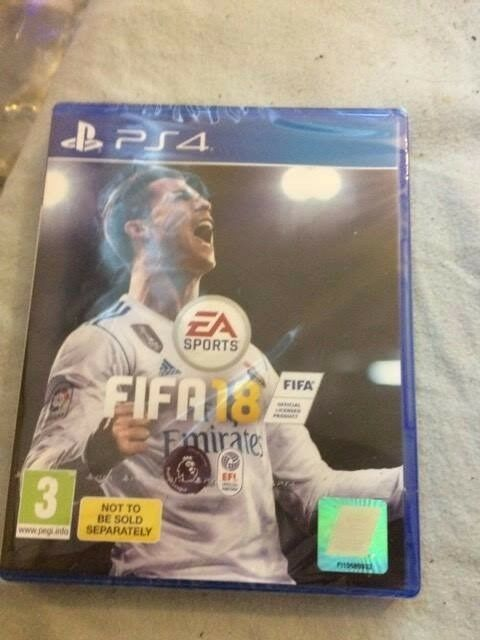 Unopened and still sealed copy of Fifa 18.