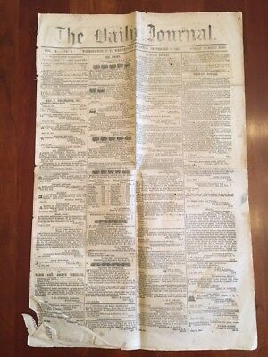RARE 1863 Confederate Civil War Southern Newspaper, Wilmington, North Carolina