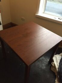 Ikea Kloffsta Multi Extendable Brown Dining Table (Seats 4-8) and 4 Ikea Stefan Brown/Black Chairs