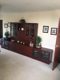 Mahogany Wall Unit