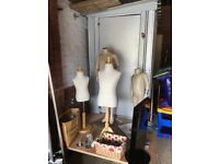 Shop fittings various including maniquins clothing rack display etc