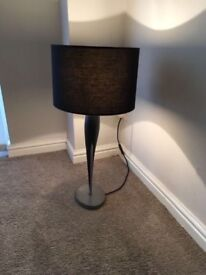 Tall stylish black lamp