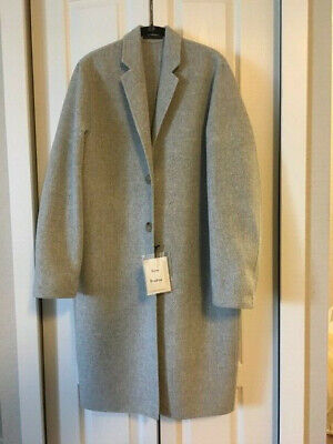 NWT acne studios avalon doublé wool & cashmere coat size 36 Gray, NEW Never worn