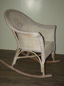 Big Comfortable Wicker Rocking Chair