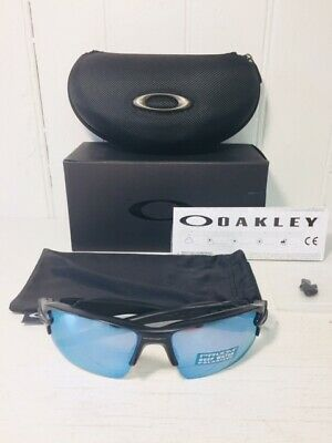 OAKLEY OO9188-58 FLAK 2.0 XL Matte Black w Prizm Deep H2O  Polarized Suns $206