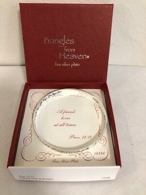 Bangles from Heaven fine silver plate A friend loves at all times (sm) Pr (All Fine Jewelry Bracelet)