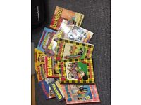 Collection of 12 Oor Wullie and Broons books. Most in near perfect condition