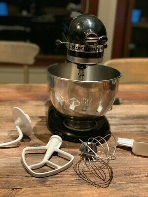 Kitchen Aid Ultra Power KSM900 B, Black, 4 12 Qt. Stand Mixer,  4 Attachments