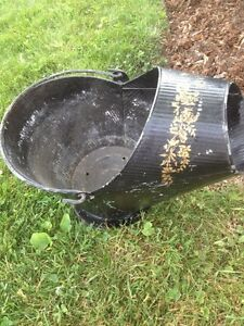 Charcoal Antique Pale Pail Pot Old Metal Garden Patio Display Up Oakville / Halton Region Toronto (GTA) image 1