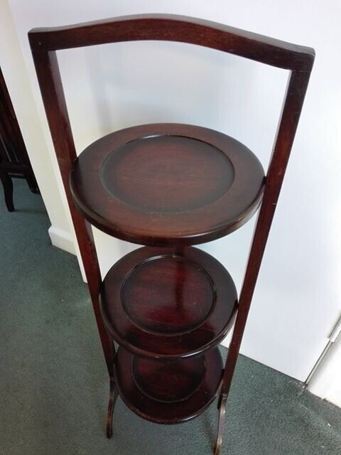Vintage wooden 3-tier plant stand or table | in Mumbles, Swansea | Gumtree