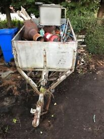Free trailer and scrap metal