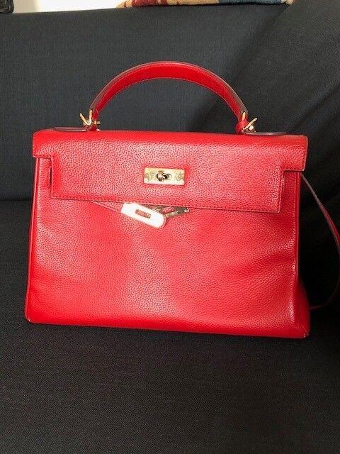 1b02f52240f9 ... hot hermes kelly red leather handbag dd7e6 b89fc