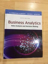 "Barely Used!! - ""Business Analytics"" Hardbound Version - by Christian Albright & Wayne Winston"