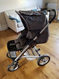 Mutsy Travel System including stroller, bassinet and extras