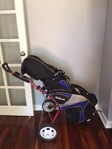 Mens Wilson Golf Clubs & Buggy Morley Bayswater Area Preview