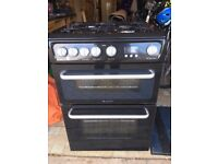 Hotpoint double oven Gas Cooker 60cm wide