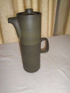 DENBY CHEVRON (Camelot in USA) COFFEE POT & OTHER PIECES