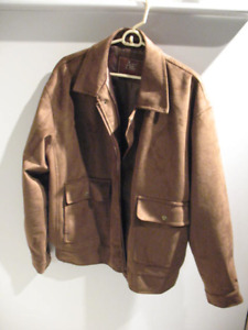 American Eagle Outfitters suede jacket, Sz: Large, bomber style.