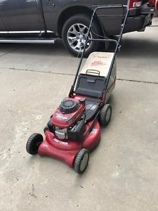 Craftsman Honda self propelled  rear bag lawnmower