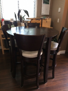 Solid Mahogany Malaysian Bistro Table and Chairs