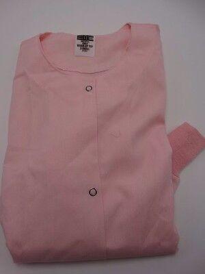 EWC Pink Long Sleeve Warm Up Scrub Jacket Small New