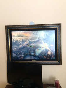 Tinker and Peterpan print by Thomas Kinkade