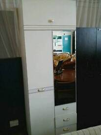Wardrobe with fitted mirror
