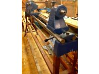 "Record CL3-48"" Lathe with stand and bowl turning accesories."