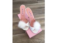 Agents Provocateurs Satin Mules/Slippers